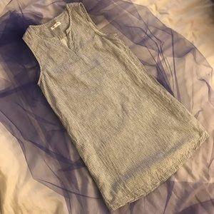 Beachlunchlounge Blue White Pinstripe Dress